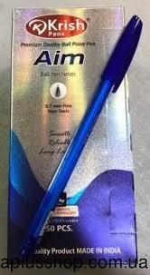 Ручка Krish AIM масляна фіолетова (50шт/уп)