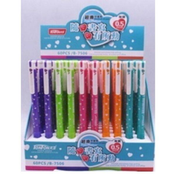 Ручка прикол 1154,1155,1156,1157,1158,1159,1161 (48шт/уп) гелева змінює колір на ультрафіолеті