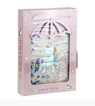 Блокнот А5 9907,9908 Unicorn з водою в коробці в лінійку