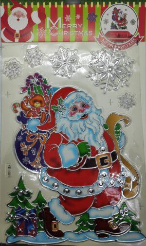 Наклейка YE 22*38см новорічна асорті (12шт/уп)