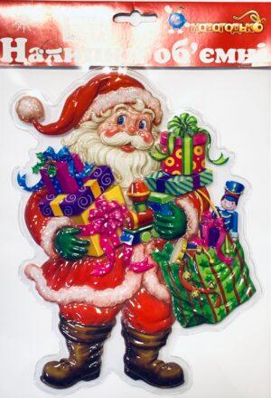 Наклейка новорічна, на вікна 800623  800624 800645 800664 800625 800673 25*25(21)см