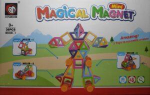 Іграшка магнітний конструктор 38деталей M-032B-32, M032B-33