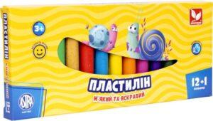 Пластилін Школярик 12кол + 1 золотий 303115007
