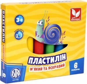 Пластилін Школярик 6кол круглий 83811905