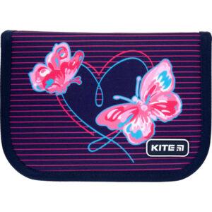 Пенал Kite 1 від., 2 відв., без наповнення K21-622-3 Butterflies