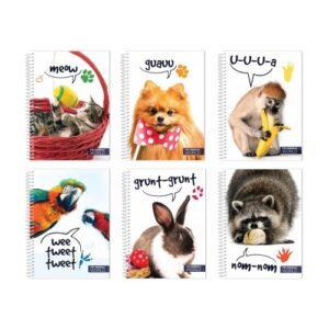 Блокнот А5, 80 арк., «У світі тварин», пластикова обкладинка, Economiх E20318-99