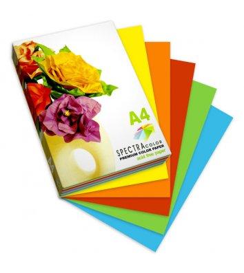 Папір кольоровий насичений мікс Spectra Color А4 160г/м2 Intensiv 5*10 50арк IT85A IT82A