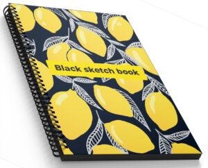 Блокнот Profiplan А5/160 Black sketch book спіраль