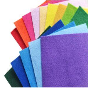 Набір кольорового фетру 1Вересня 10арк А4 741402,740462,740460,740444