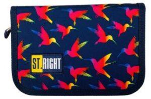 Пенал подвійний MS2019  PC-03 STRIGHT  RAINBOW BIRDS 622533