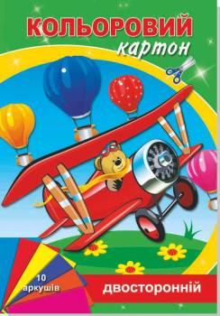 Картон кольоровий А4 Руслан двосторонній 10арк БР-10