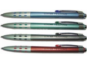 Ручка кулькова металева ECONOMIX STYLUS біла, пише синім E10308-14