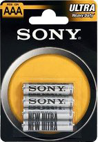 Батарейки Sony R03