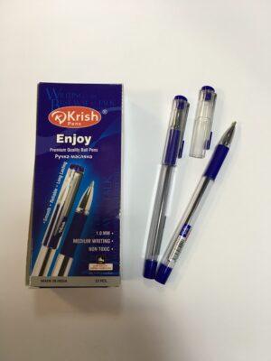 Ручка Krish Enjoy  масляна синя (12шт/уп)