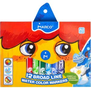 Фломастери Marco 1632-12 Super Washable Jumbo