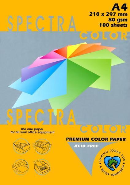 Папір А4 SPECTRA 500арк 75г/м2 IT371 оранжевий неоновий