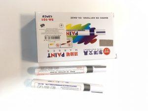 Маркер грубий Gixin 11676 Paint marker лаковий срібний (12шт/уп)