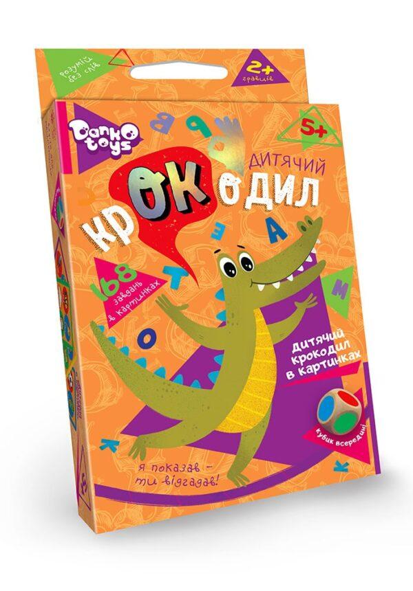 """Настільна гра вікторина """"Дитячий крокодил""""Danko Toys CROC-01-01U"""