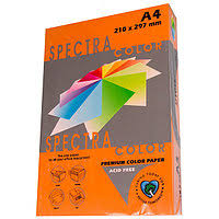 Папір А4 SPECTRA 100арк 80г/м2 IT240 оранжевий інтенсив