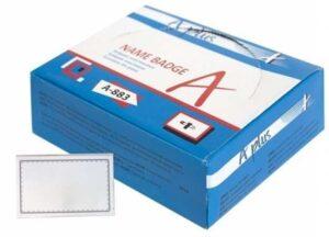 Бейдж пластиков Sakura в синій коробці А-883 2637 (50шт/уп) 2635