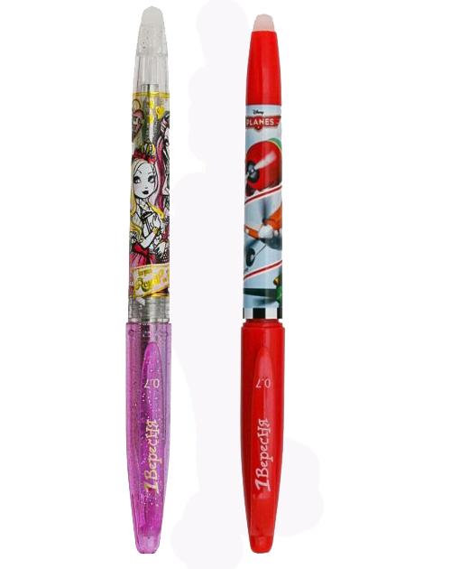 Ручка 1Вересня фіолетова сухостиральна Ever after High, Літачки 411573,411480 + синій стержень бонус