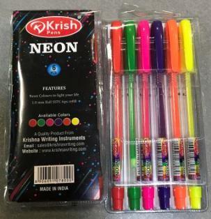 Ручка Krish Neon  набір 6шт