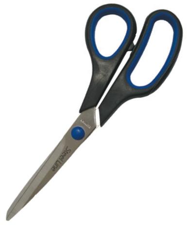Ножниці Economix 40403 з гумовими вставками 20см