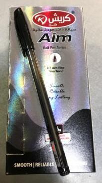 Ручка Krish AIM масляна чорна (50шт/уп)