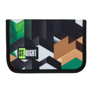 Пенал подвійний MS2020  PC-03 STRIGHT GREEN 3D BLOCKS 626302