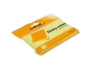 Блок паперу з клейким шаром 75*125мм 100арк жовтий Delta 3316-01
