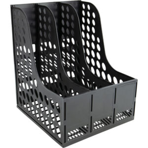 Лоток вертикальний Axent для документів 3 відділення розібраний пластиковий чорний 4041