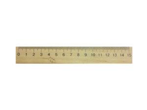 Лінійка деревяна 15см  (шовкографія)