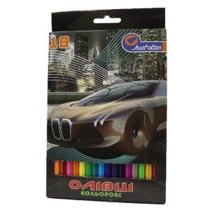 Олівці JO 18кол 1051-18E Машини пластиковий