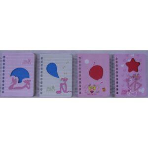 Блокнот 4355 А7/80арк спіраль рожева пантера