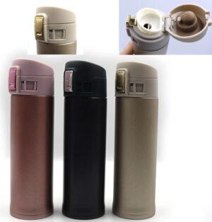 Бутилка термос для води 500мл 0139-500 перламутр не прозорий