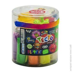 Пластилін Danko Toys Master Do Fluoric 12+1кол в тубусі TMD-FL-12-01