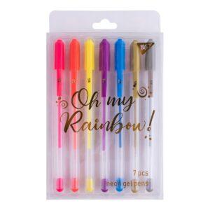 Набір гелевих ручок Yes! 420368 Oh my rainbow неон 7шт