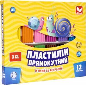 Пластилін Школярик 12кол прямокутний 303117001