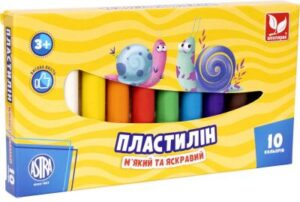 Пластилін Школярик 10кол круглий 83812902