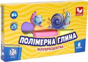 Полімерна глина Школярик 6кол флуоресцентна 83911902