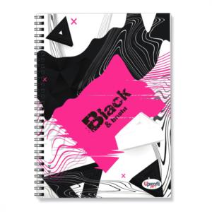 Блокнот Profiplan А5/80 Black&bright спіраль збоку темні сторінки