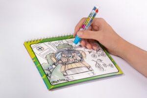 Альбом для творчості  малюємо водою  машини 23*20  2011-A1