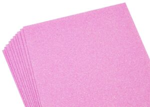 Фоаміран EVA перелив різн кольор з глітер 20 * 30см, 1,8 мм, 10 арк/пач пач рожевий 10505(IR-EVA-004