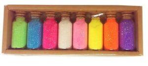 Набір бісеру Sultani 9914 в скляних колбах 8 кольорів*9 грам