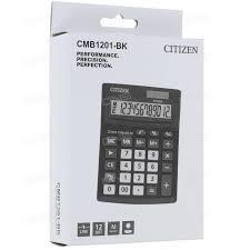 Калькулятор Sitizen CMB 1201-BK