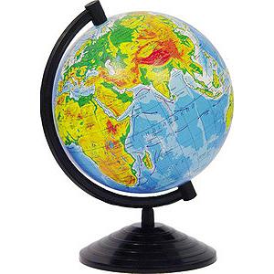 Глобус подарунковий в коробці D=26см. фізичний