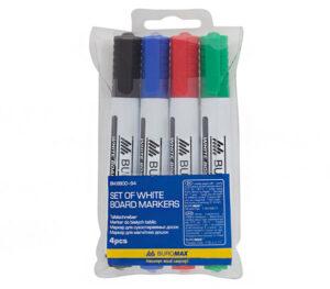 Комплект маркерів  сухостиральних 4шт  Buromax 8800-94