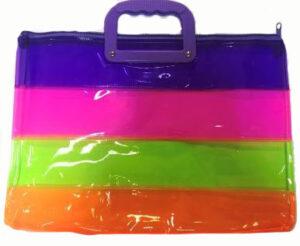 Портфель дитячий з пластик ручками 4671 Веселка