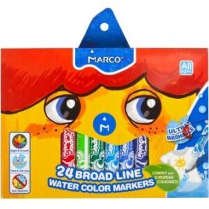 Фломастери Marco 1632-24 Super Washable Jumbo