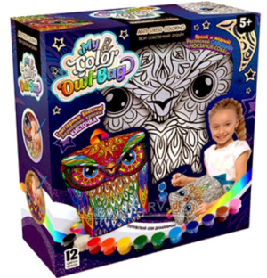 """Набір для дитячої творчості Danko Toys """"My Color Owl-Bag"""" рюкзачок-сова COWL-01-01U"""